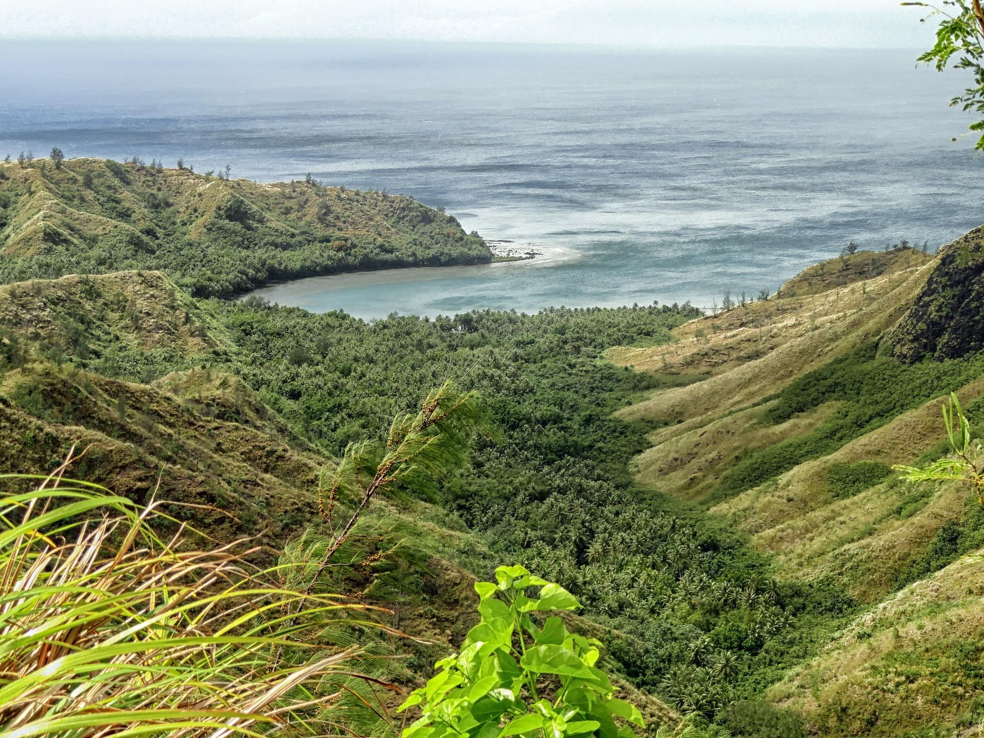 Mountaintop view of Guam