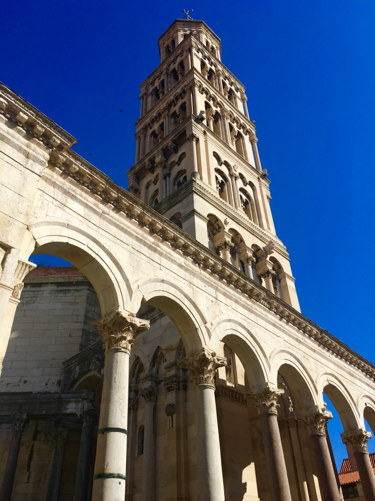 Bell tower of Diocletian's Palace in Split, Croatia