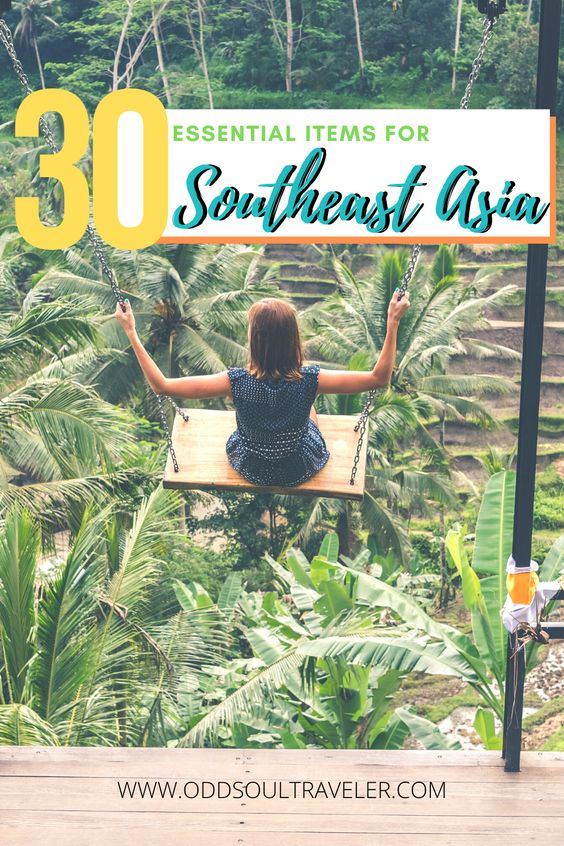 The essential packing list for Southeast Asia