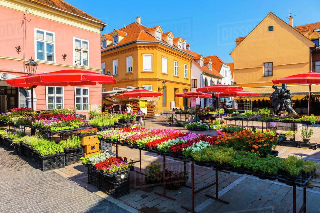 Shop at the Dolac Market in Zagreb
