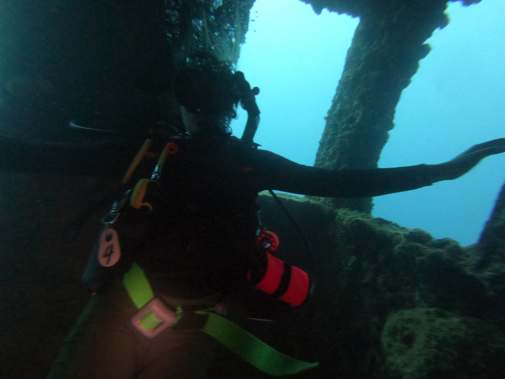 Scuba diving the ship wrecks of Guam
