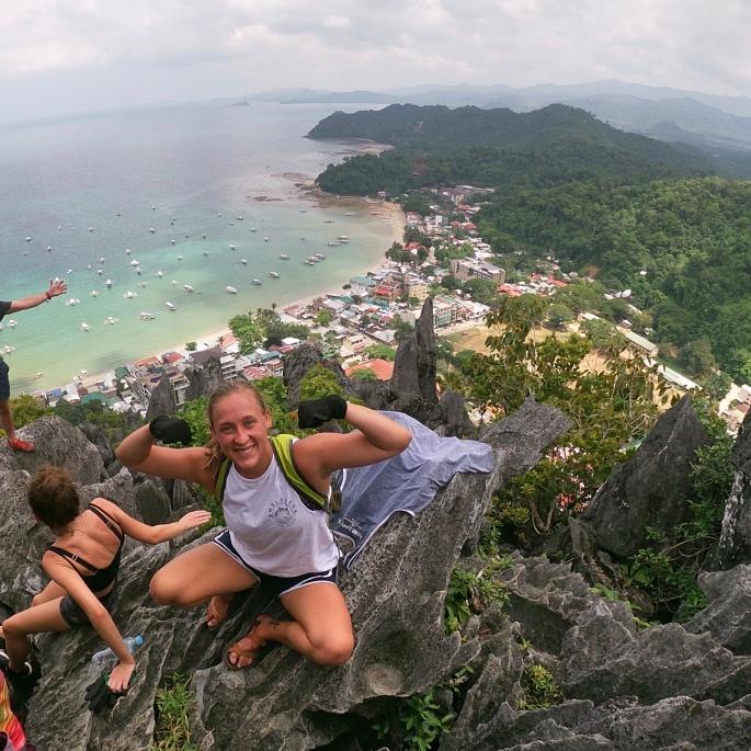 Climbing Taraw Cliff in El Nido, Palawan