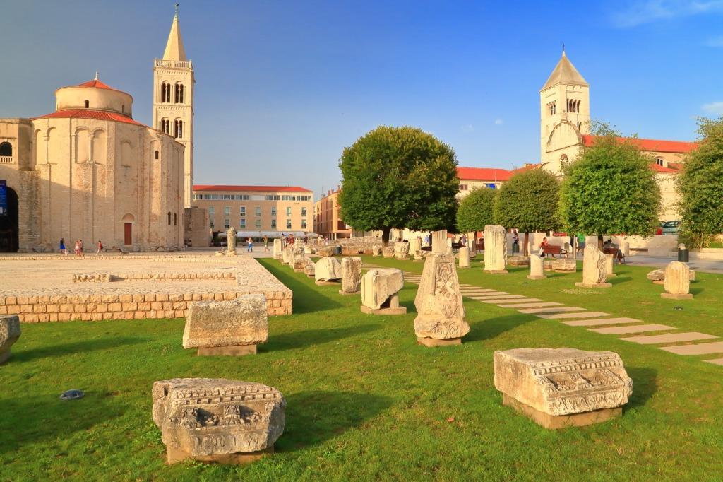 The Roman Forum in Zadar
