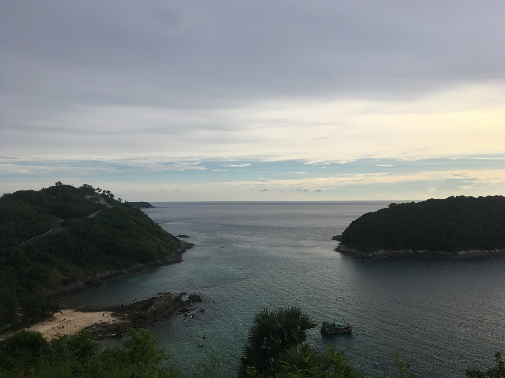 Hillside view of Nai Harn Beach in Phuket