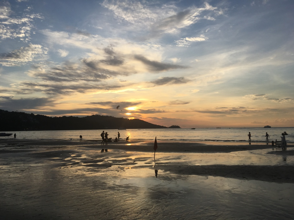 Sunset on Patong Beach in Thailand