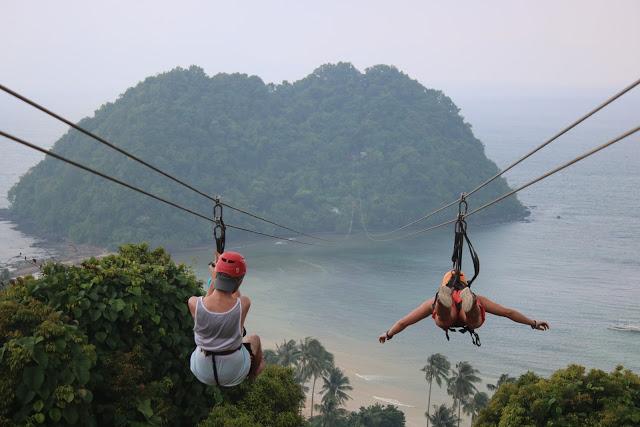 Ziplining in El Nido, Palawan