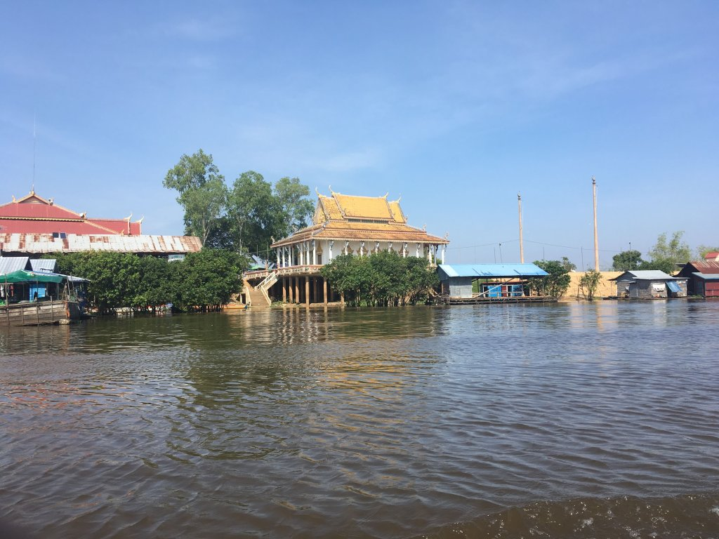 One of many floating villages on Tonle Sap Lake near Siem Reap, Cambodia