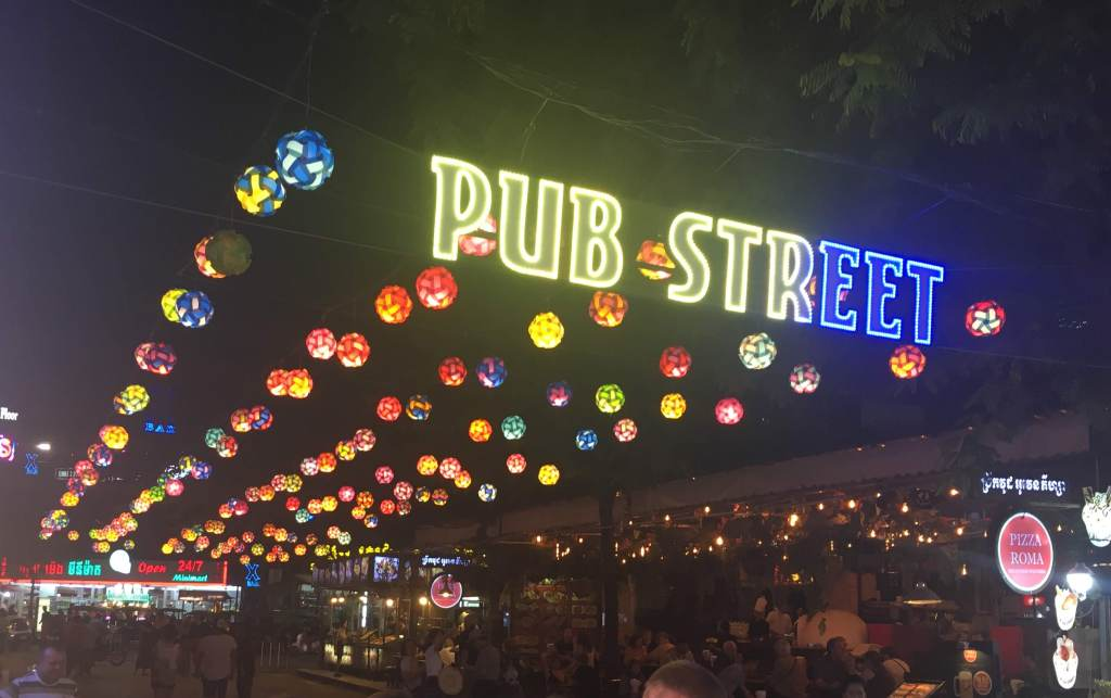 Entrance to the famous Pub Street in Siem Reap, Cambodia