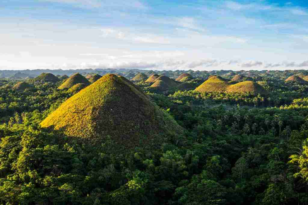 The famous Chocolate Hills of Bohol