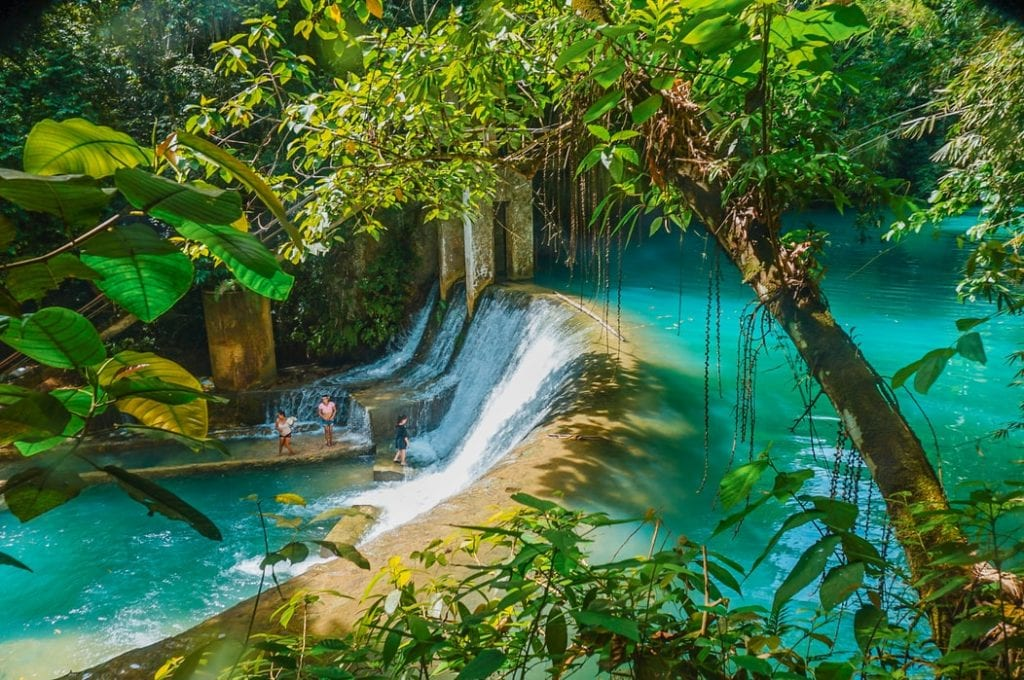 Jungle waterfalls near Cebu in the Philippines