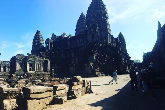 The famous Angkor Wat temple complex in northern Cambodia