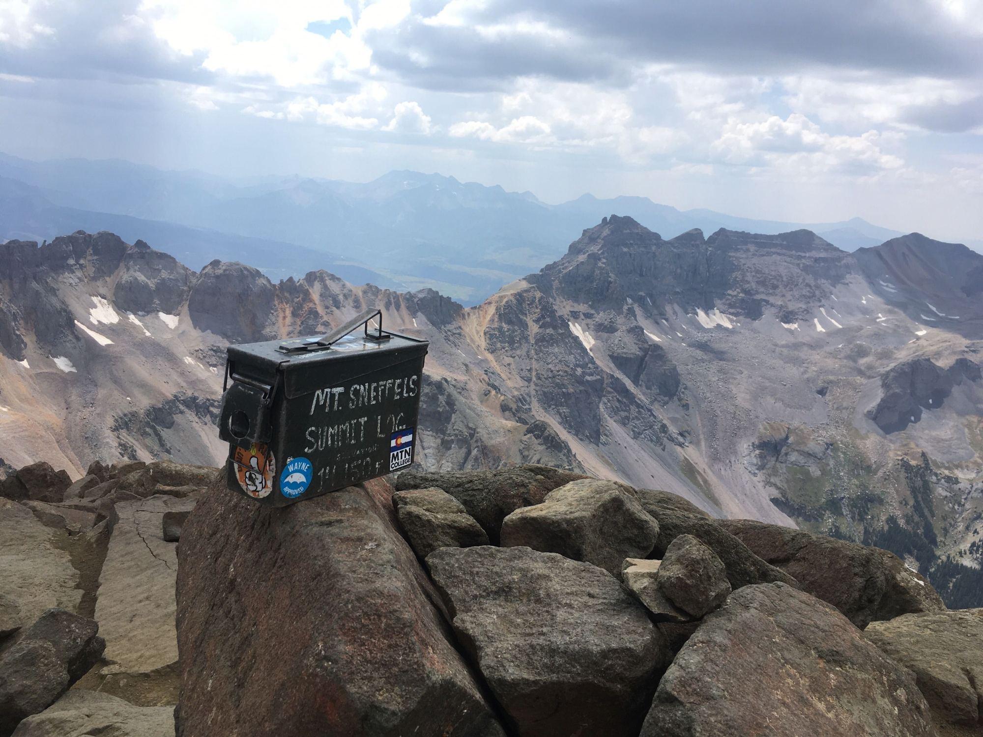 The Summit of Mount Sneffels at 14,150 feet
