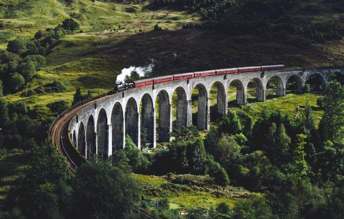 Travel sustainably by using trains